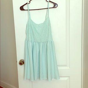 Mint mini dress